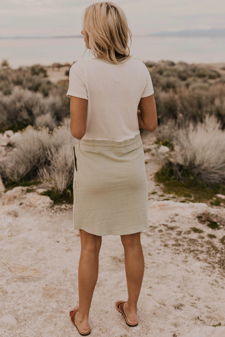 Two Tone Tie Dress | ROOLEE