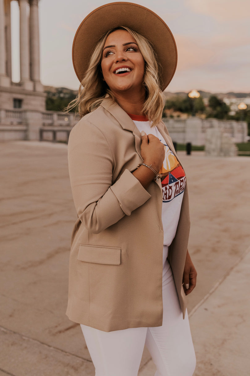 Tan Blazer for Women | ROOLEE
