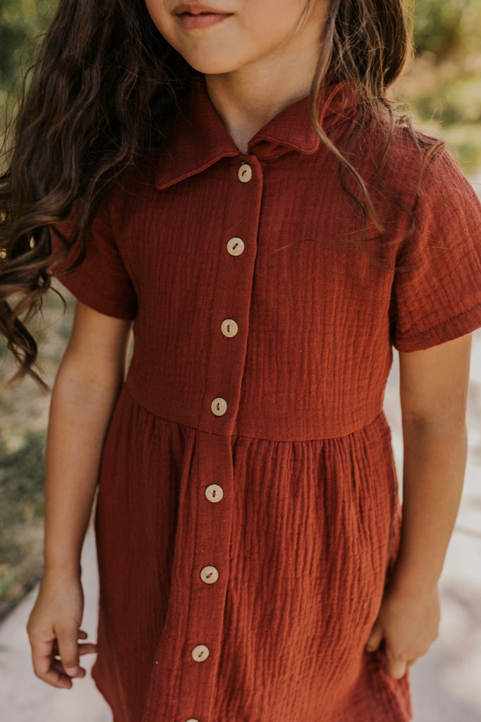 Button Front Girls Dresses | ROOLEE