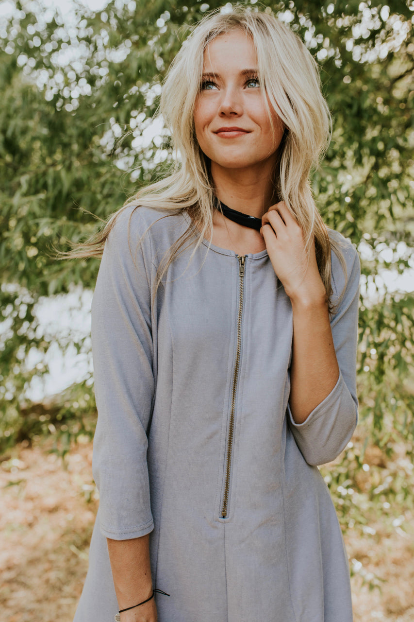 The Cypress Dress in Grey | ROOLEE