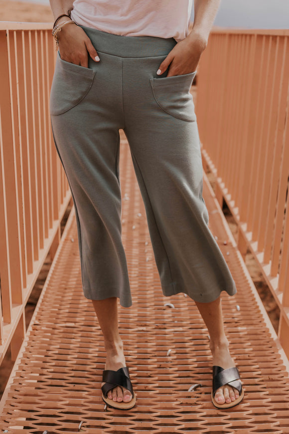 Sage Cotton Pants | ROOLEE