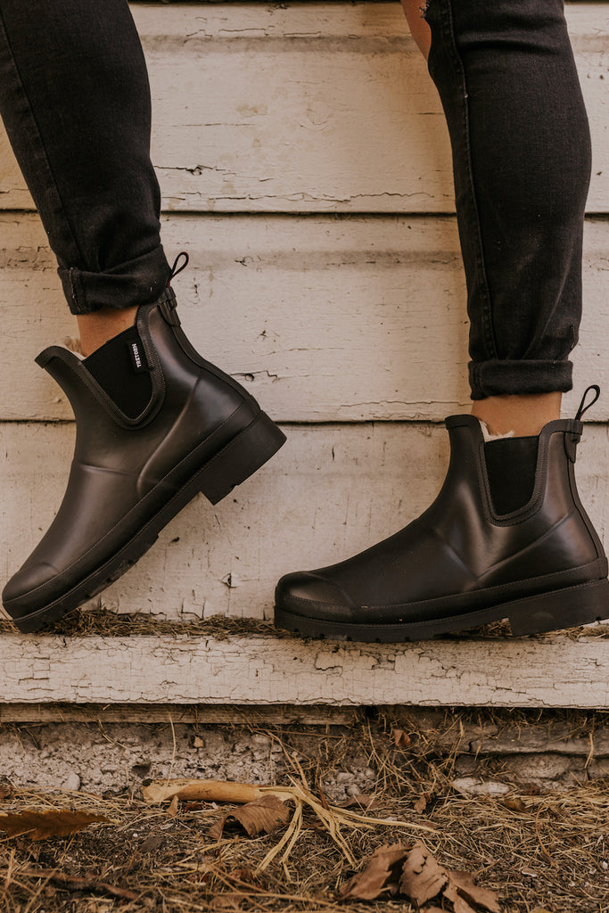 Trendy Black Winter Boots | ROOLEE