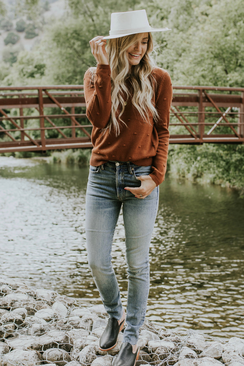 Embroidered Sweater Outfit | ROOLEE