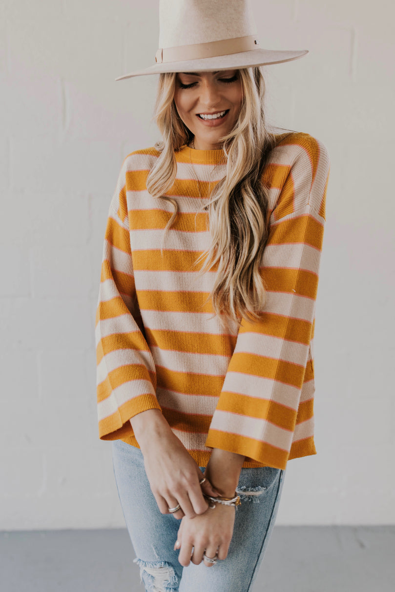 Funnel Sleeve Sweater Outfit Ideas | ROOLEE