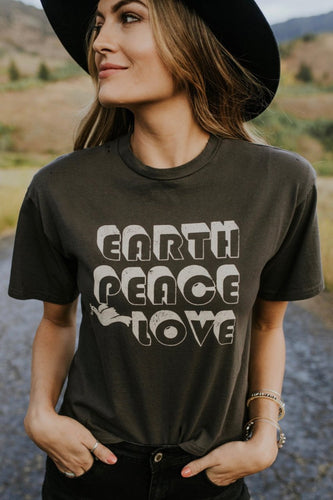 'Earth, Peace, Love' Graphic Tee | ROOLEE