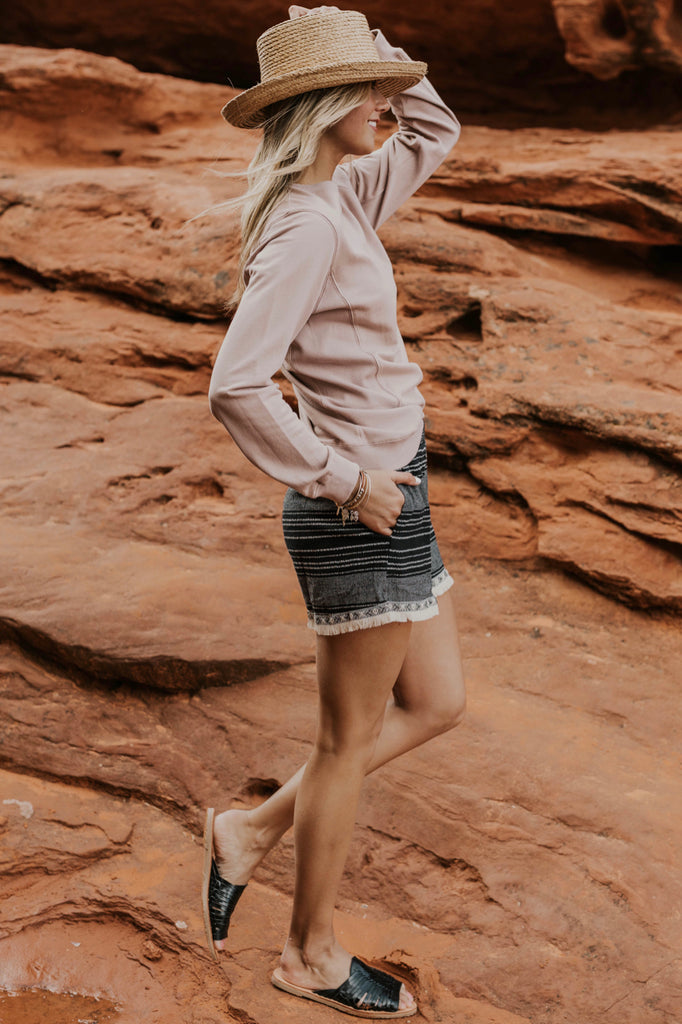 Blush Crew Neck Pullover | ROOLEE