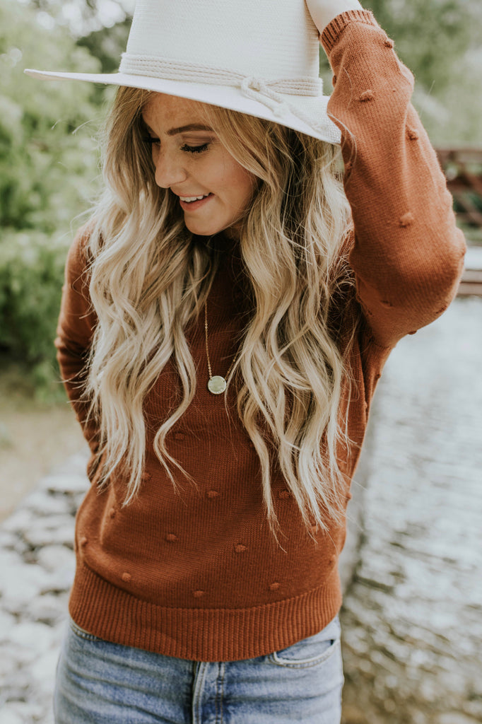 Orange Sweater Outfit for Fall | ROOLEE