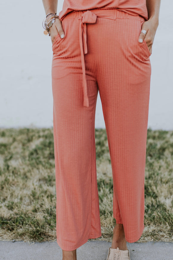 Jozelle Ribbed Pant | ROOLEE
