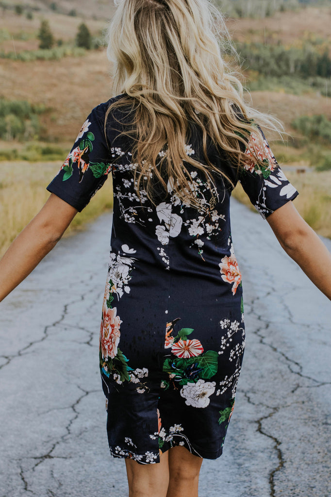 Cute Floral Dress Outfit | ROOLEE