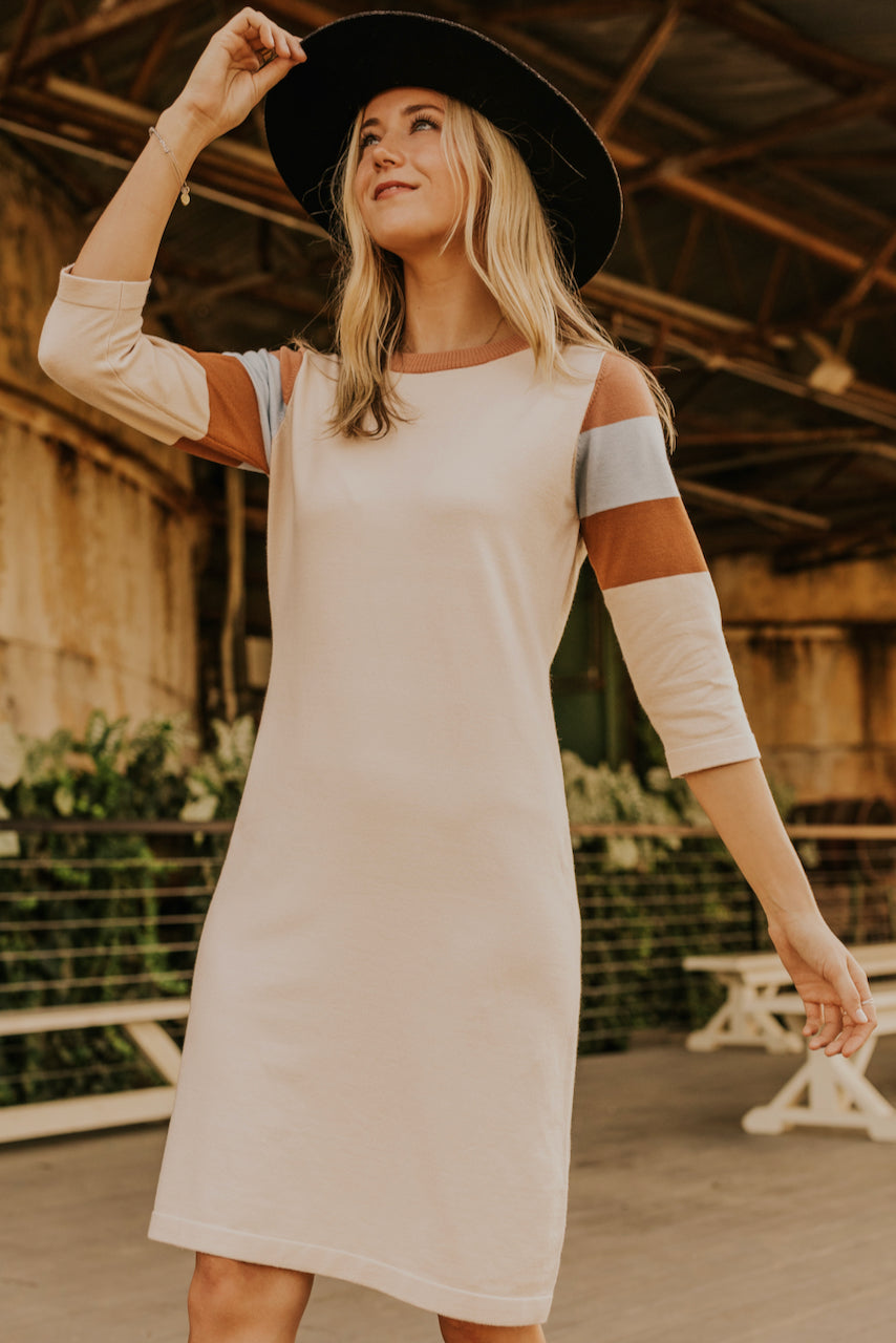 Stripe Sleeve Dress | ROOLEE