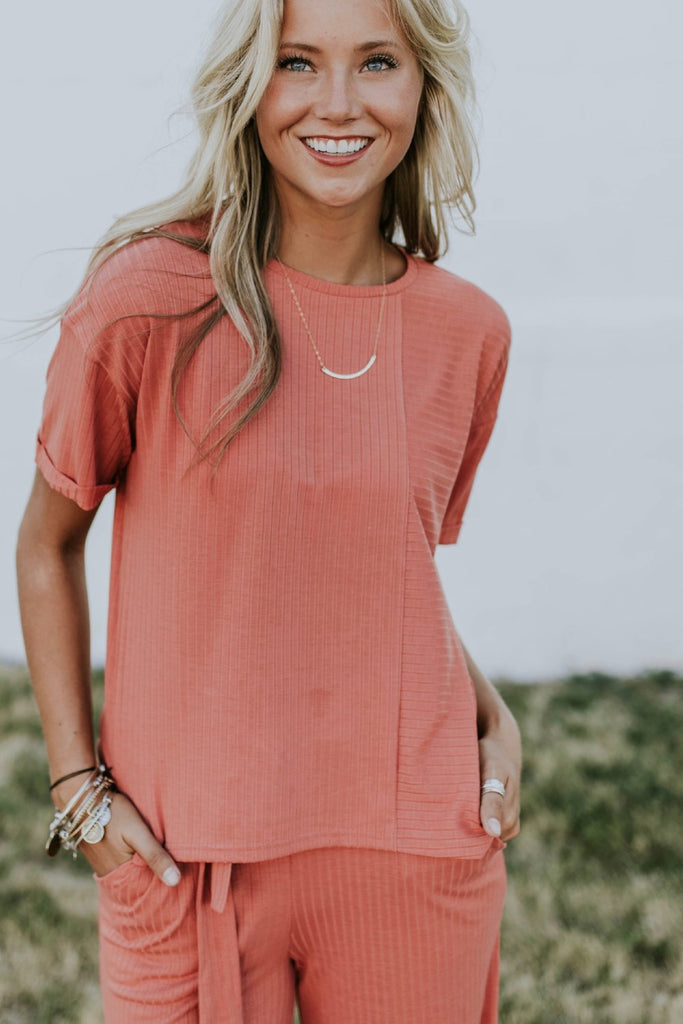 Jozelle Ribbed Tee | ROOLEE