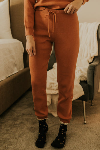 Rust Knit Joggers | ROOLEE