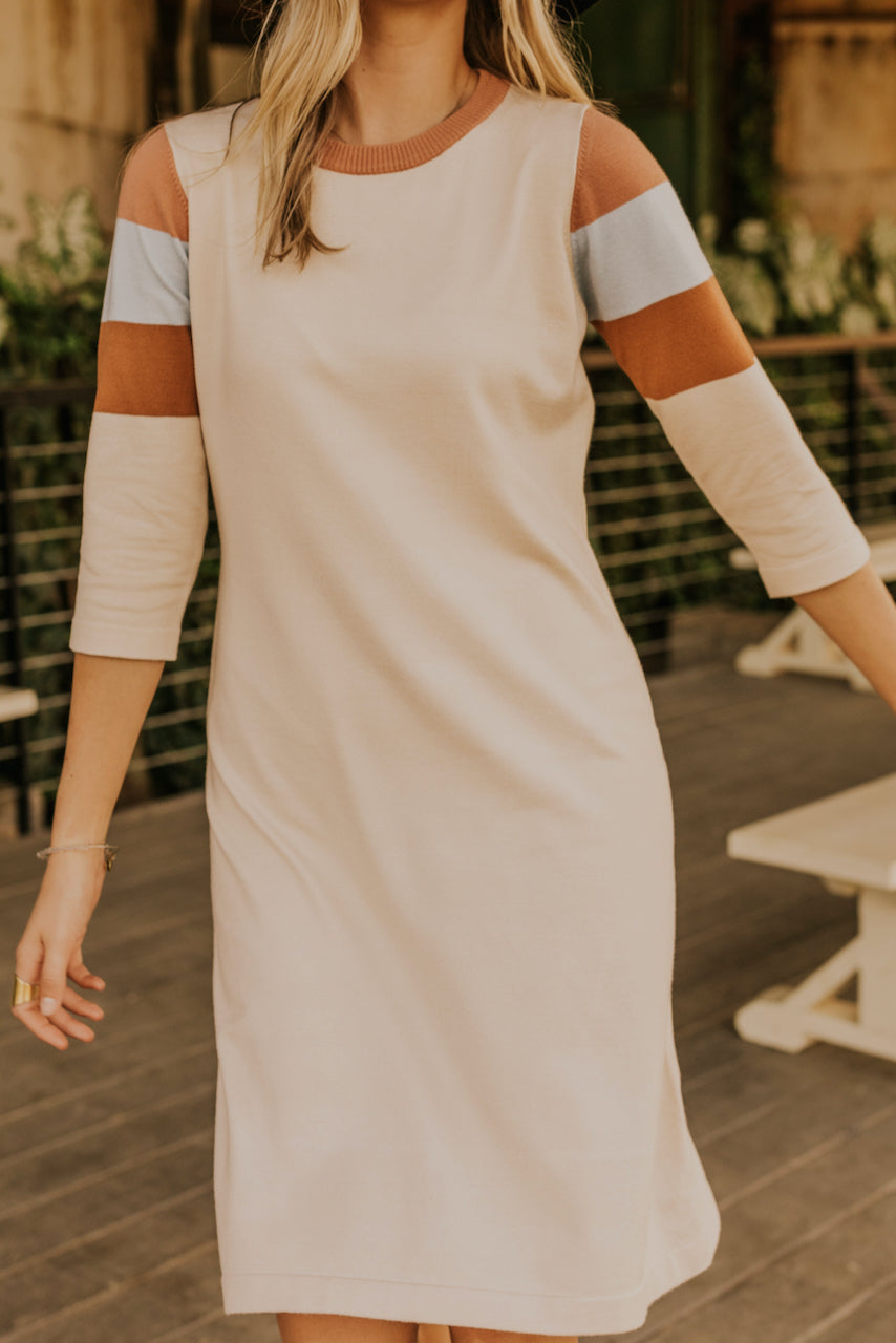 Quarter Sleeve Sweater Dress | ROOLEE