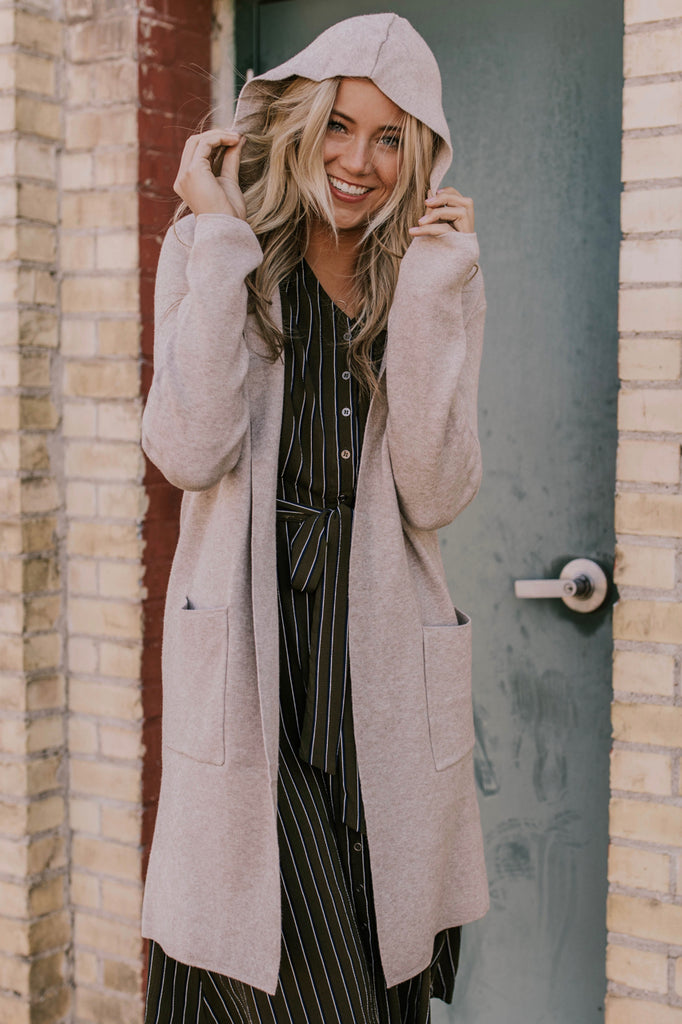 Hooded Cardigan with Pockets | ROOLEE