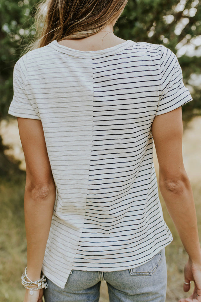 Classic Stripe Tee Shirt For Women | ROOLEE
