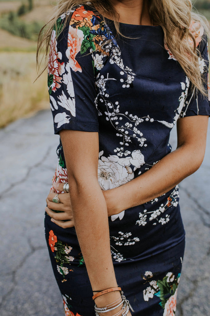Body Con Floral Dress | ROOLEE