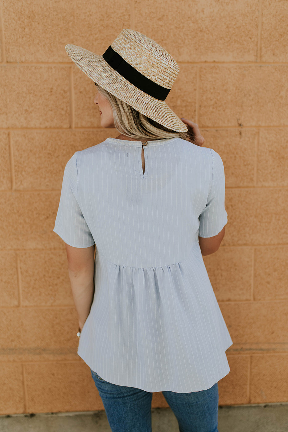 Babydoll w/Embroidered Stripes | ROOLEE
