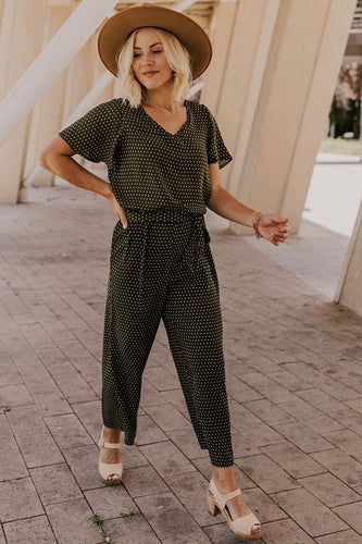 Green Pattern Jumpsuit | ROOLEE