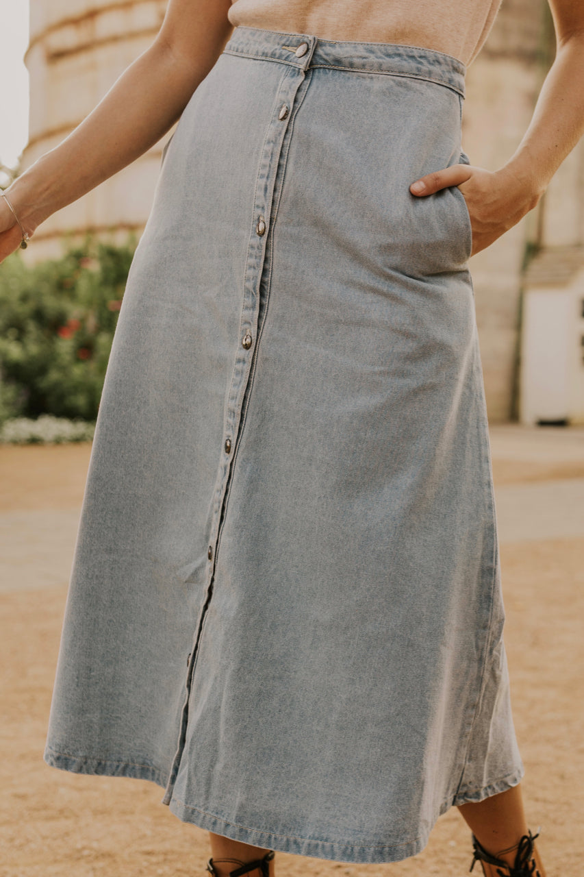 Zodiac Denim Skirt