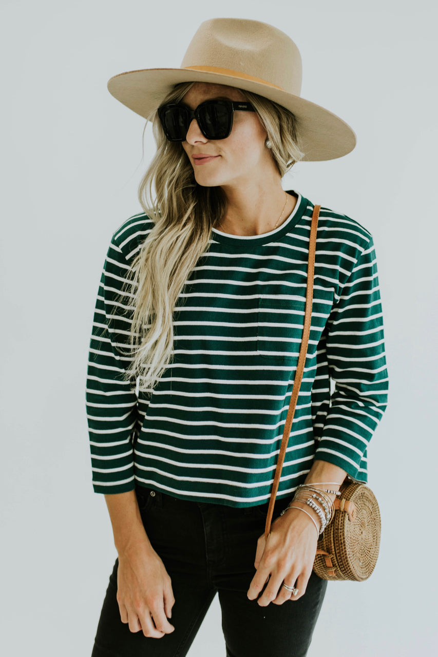 Stripe Top Outfit | ROOLEE