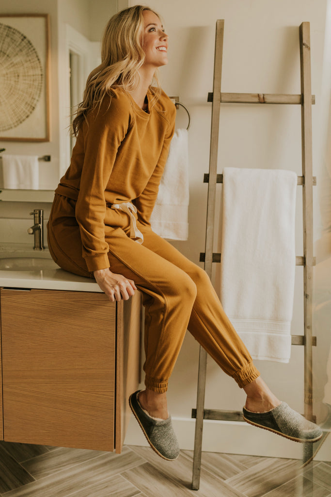 Long Sleeve Tan Pj Sets for Women | ROOLEE
