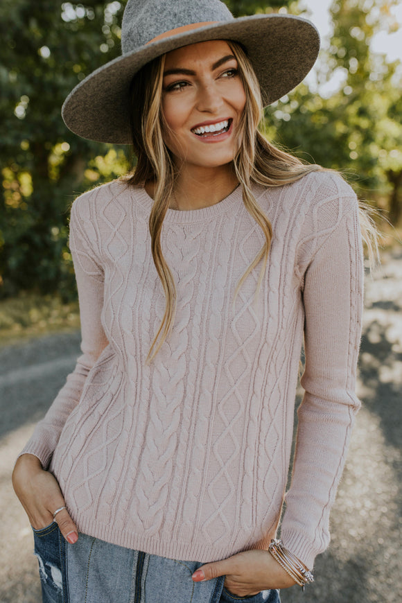 Hampshire Cable Knit Sweater | ROOLEE