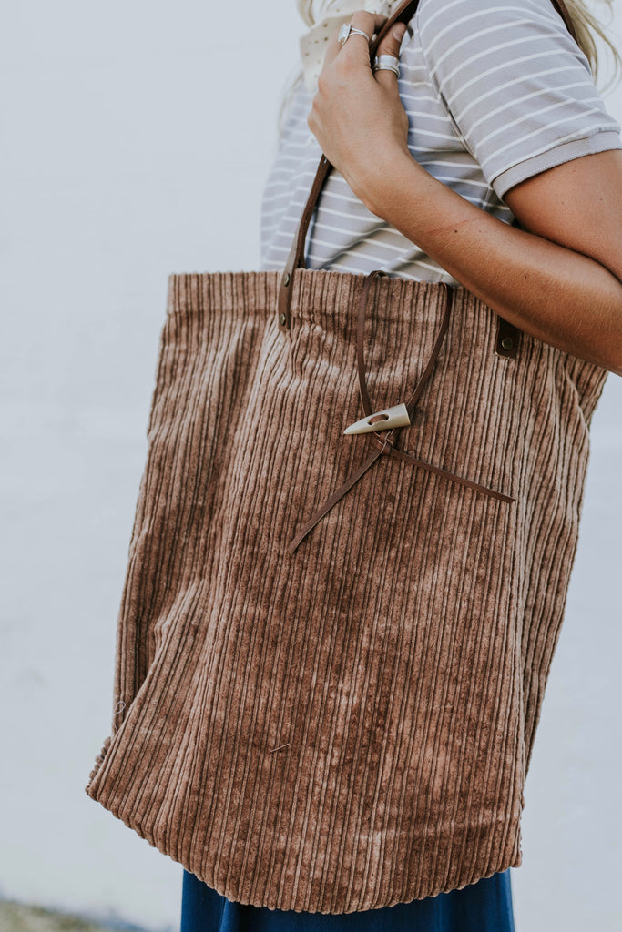 Free People Corduroy Washed Tote | ROOLEE