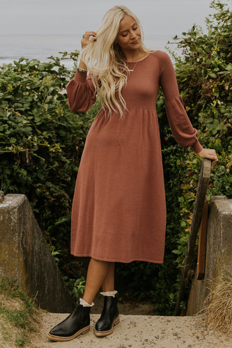 Mauve simple dresses for fall | ROOL<EE