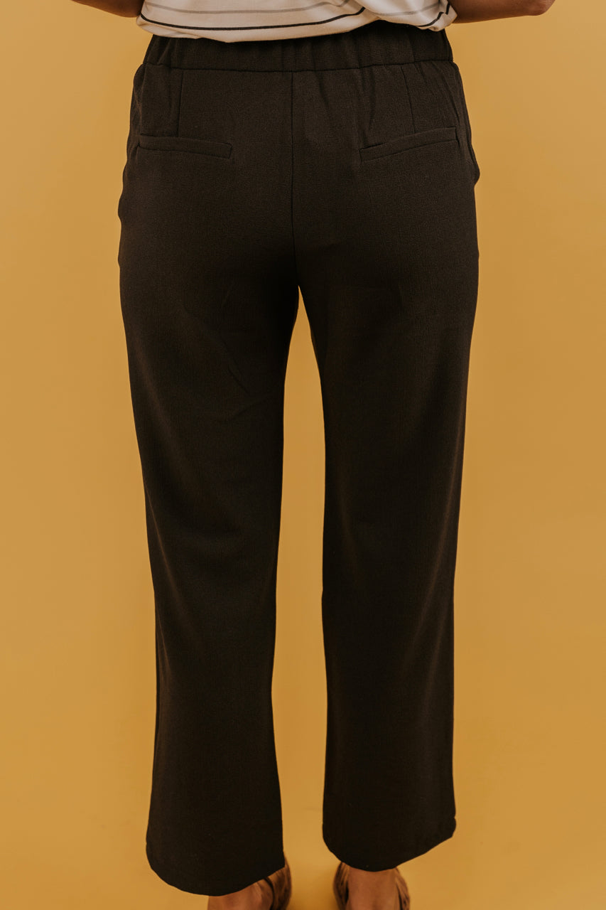Women's Black Dress Pants | ROOLEE