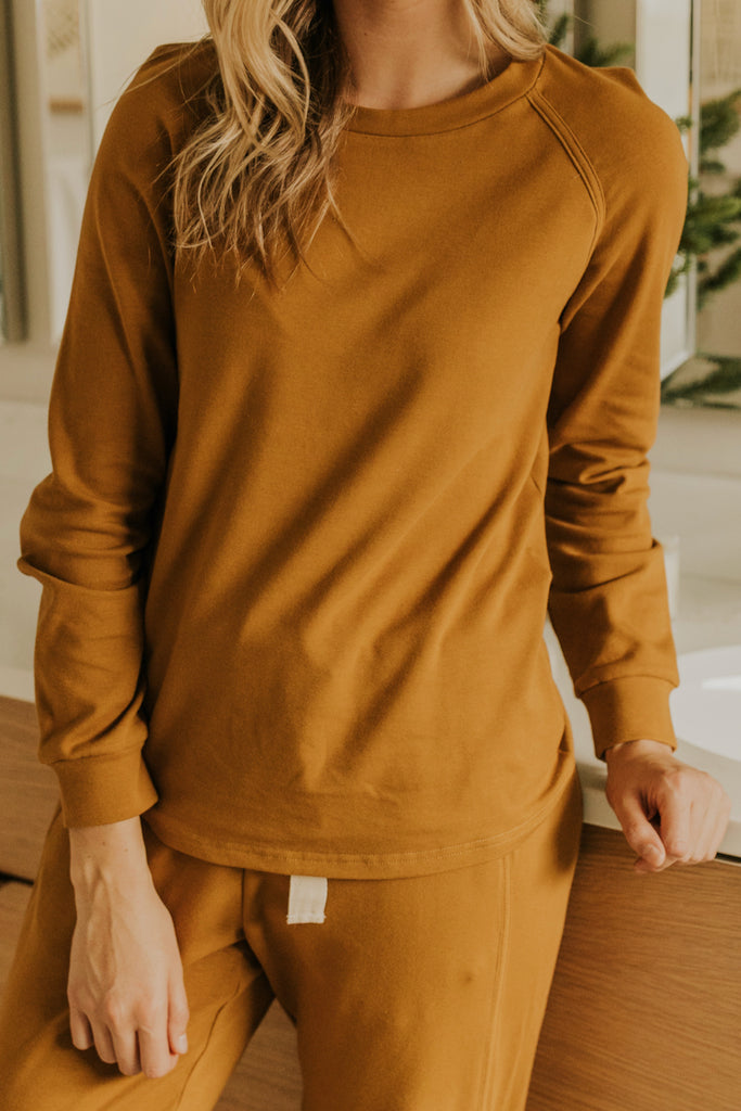 Long Sleeve Camel Pajama Set | ROOLEE