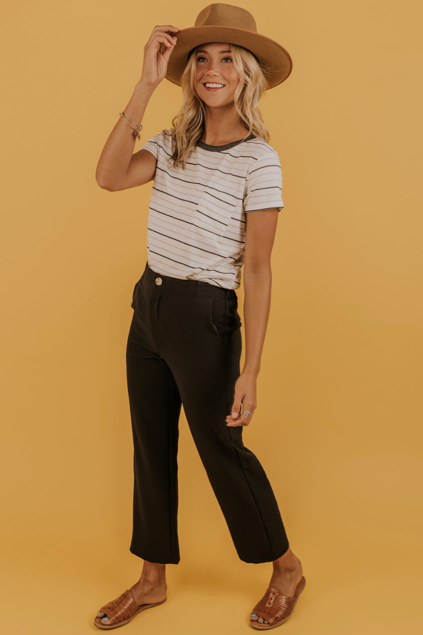 Wide Leg Black Pants | ROOLEE
