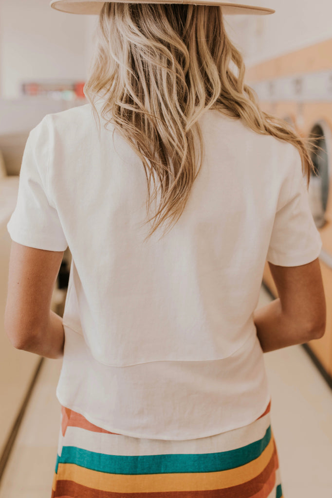 White Cotton Tee Outfit Ideas | ROOLEE