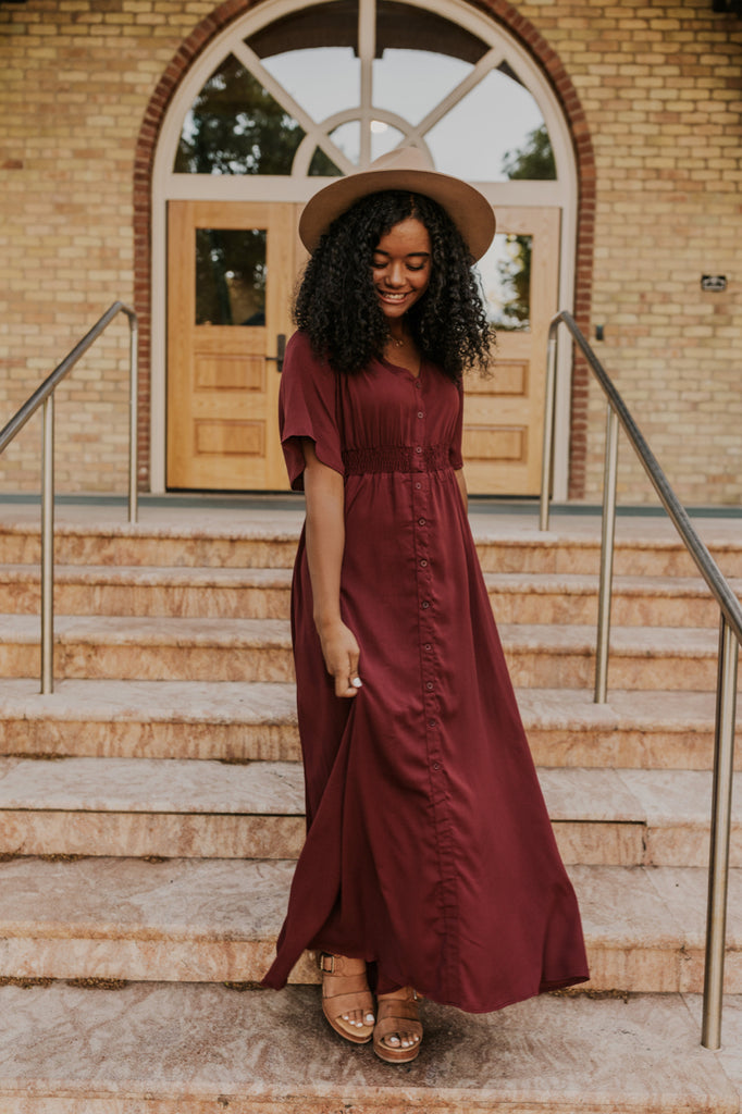 Burgundy Maxi Dress | ROOLEE