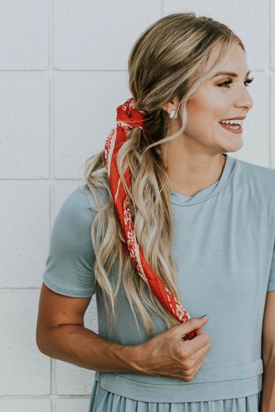 Clermont Floral Bandana in Red | ROOLEE