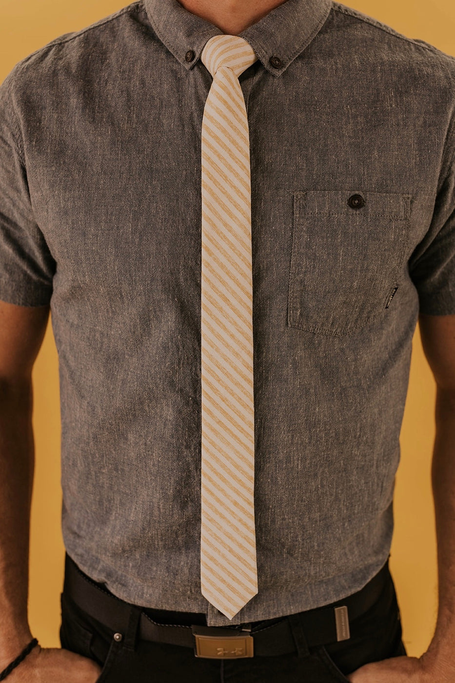 Striped Cotton Tie | ROOLEE