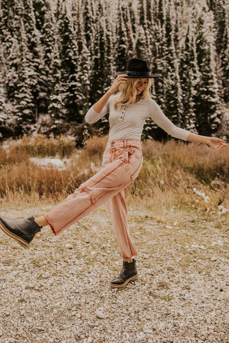 Pink Free People Pants | ROOLEE