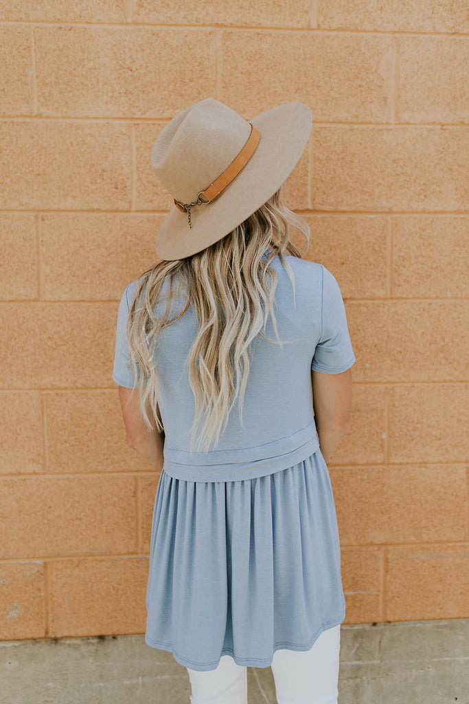 Denim Blue Layered Babydoll | ROOLEE