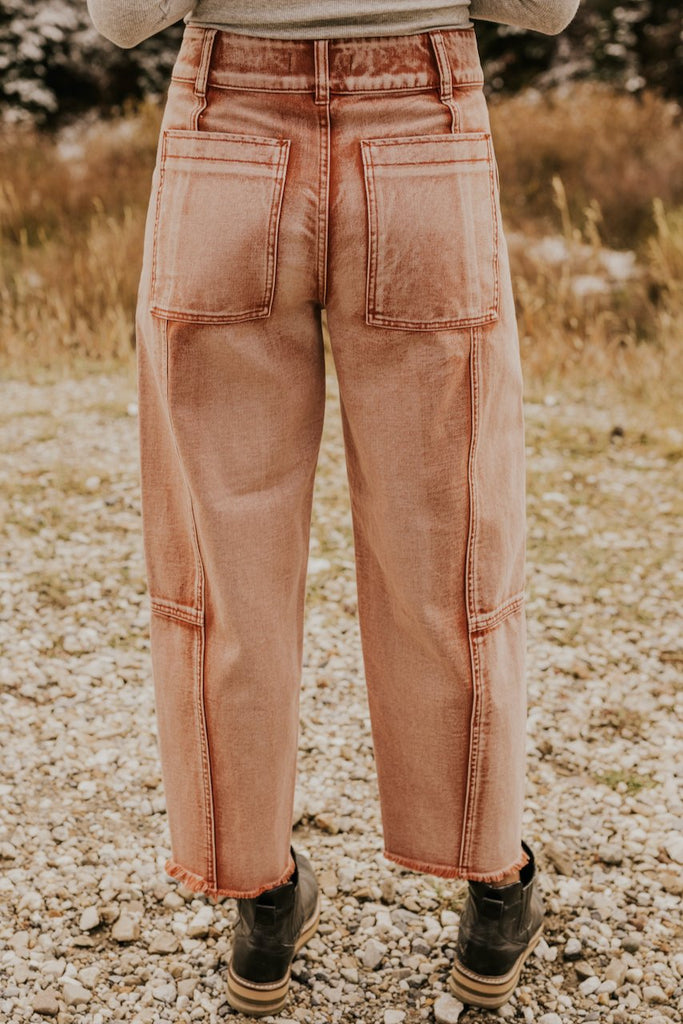 Loose Fitting Pink Free People Jeans | ROOLEE