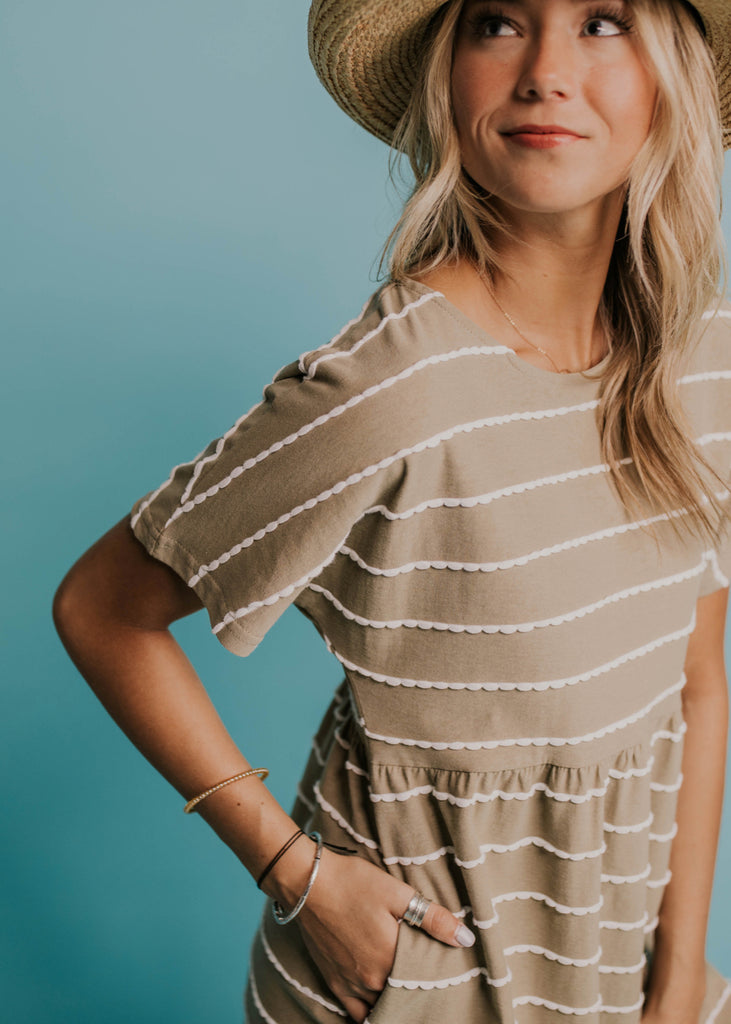 Stripe Everyday Dress | ROOLEE
