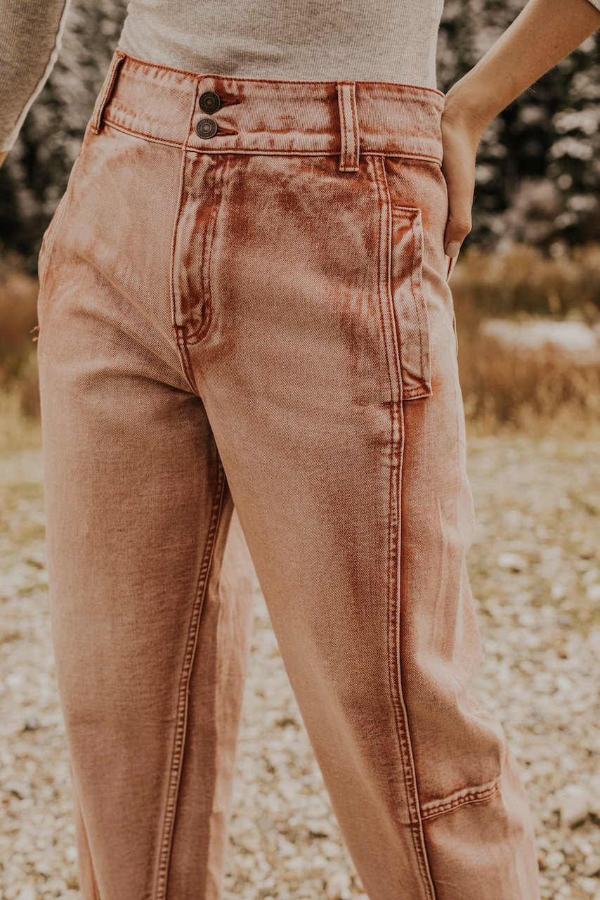 Free People Pink Jeans Trendy Women | ROOLEE