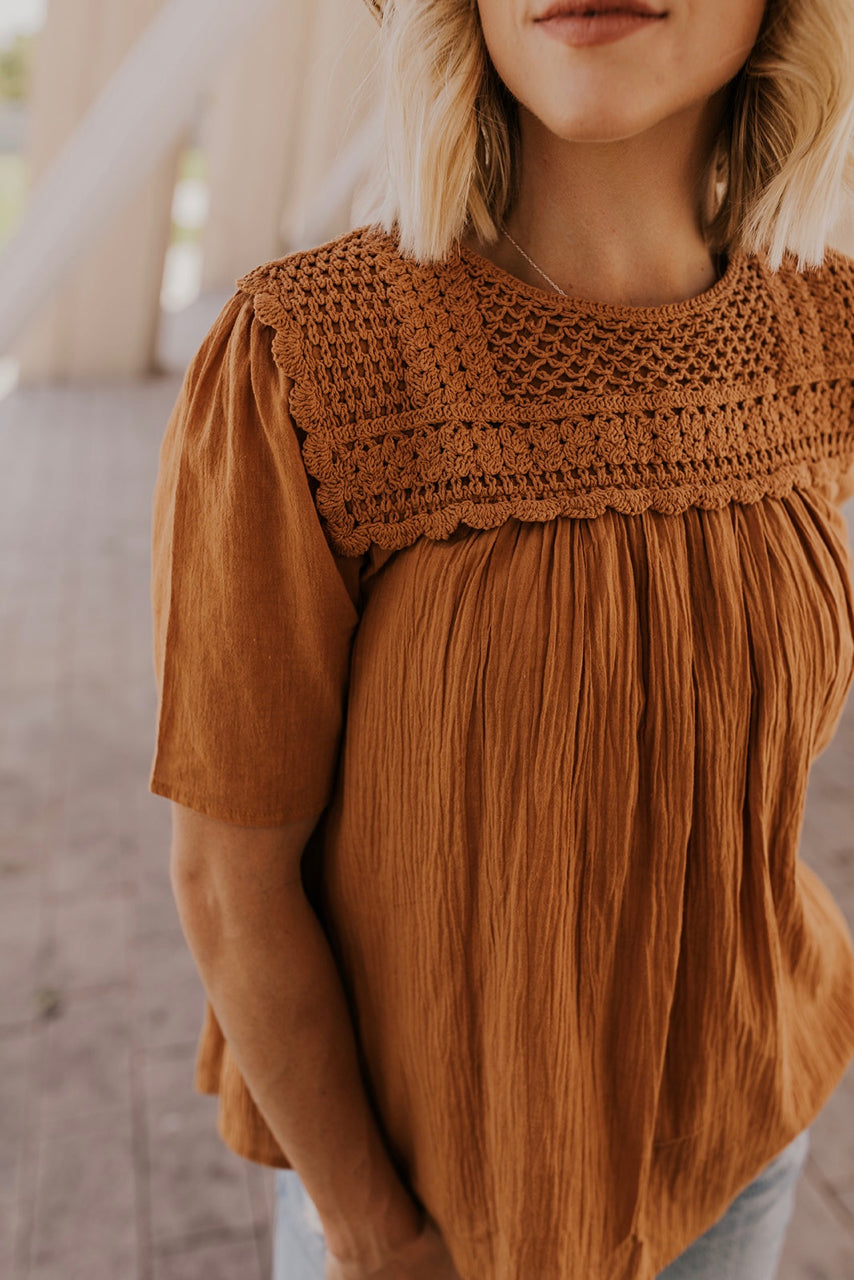 Brown Blouse for Women | ROOLEE