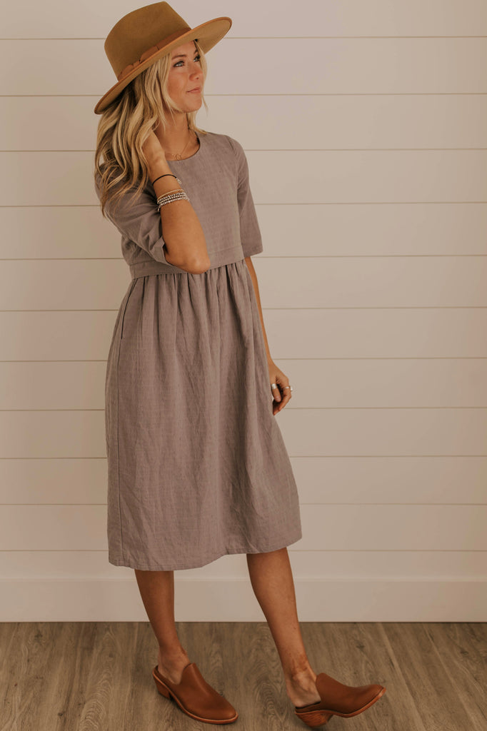 Cherie Textured MOM Dress