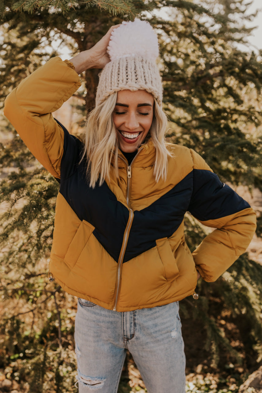 Yellow Puffy Jacket | ROOLEE