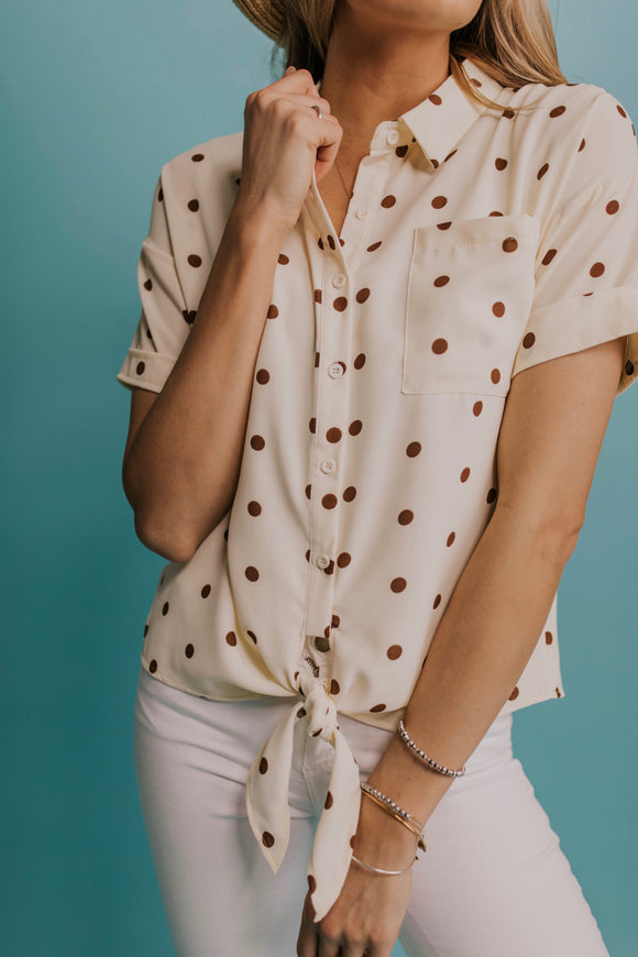 Polka Dot Button Up | ROOLEE