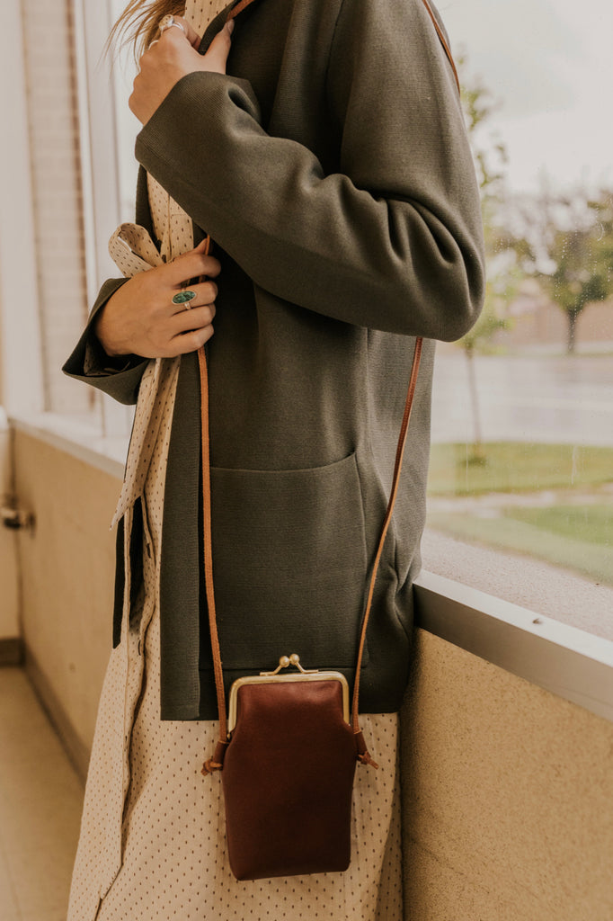Tan Leather Crossbody | ROOLEE