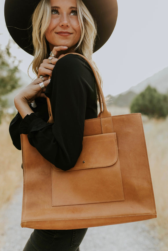 Leather Work Tote | ROOLEe