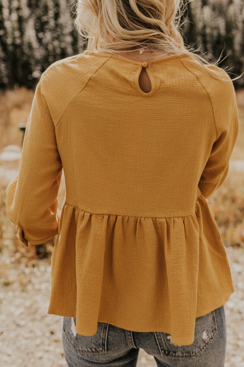 Bright and Cheery Mustard Top for Women | ROOLEE