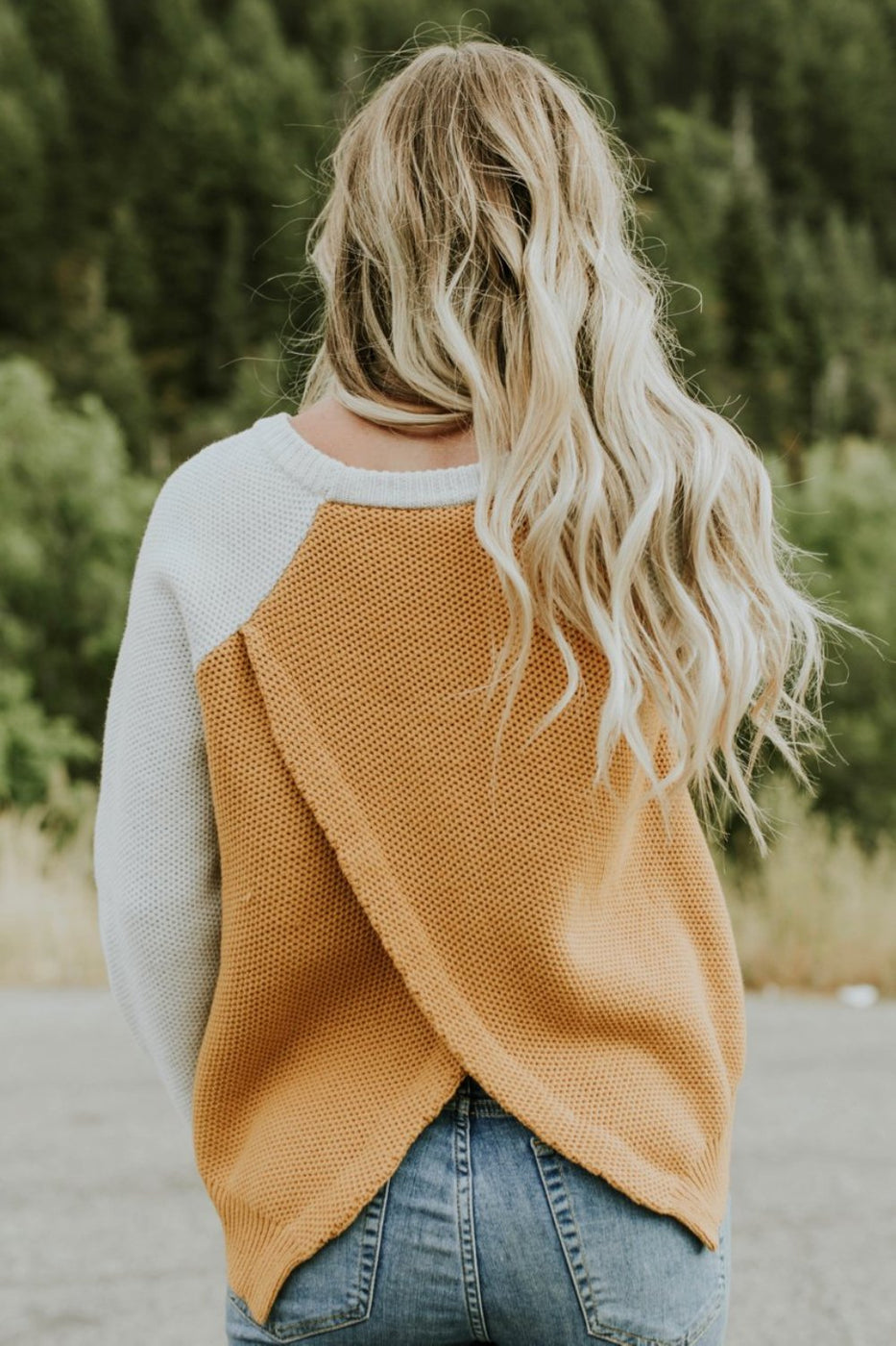 Layered Back Sweater | ROOLEE