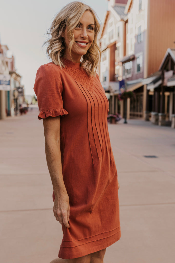 Ruffle Sleeve Dress | ROOLEE