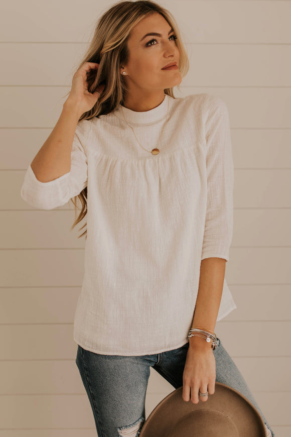 Simple Ivory Blouse Outfit Ideas | ROOLEE